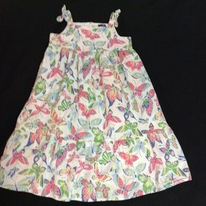 Baby GAP 5T Summer Butterfly Dress Full Skirt